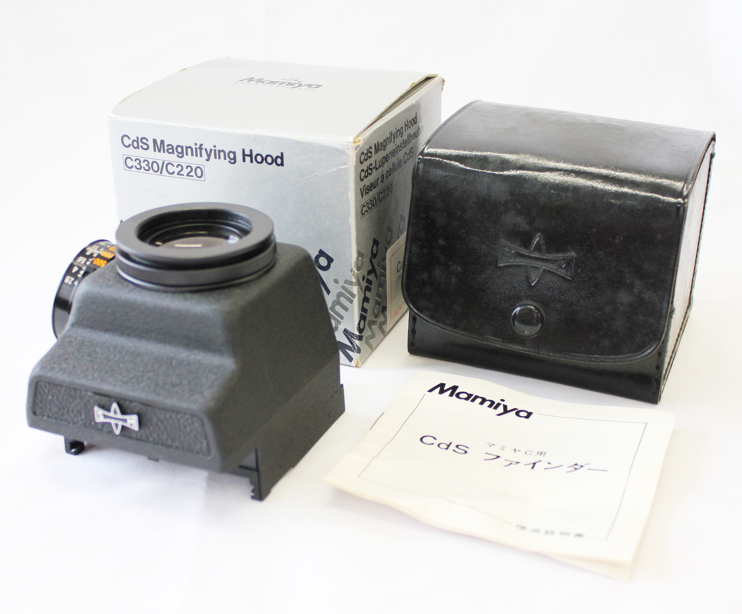 Japan Used Camera Shop | Mamiya CdS Magnifying Hood Finder for C330 C220 TLR with Case from Japan
