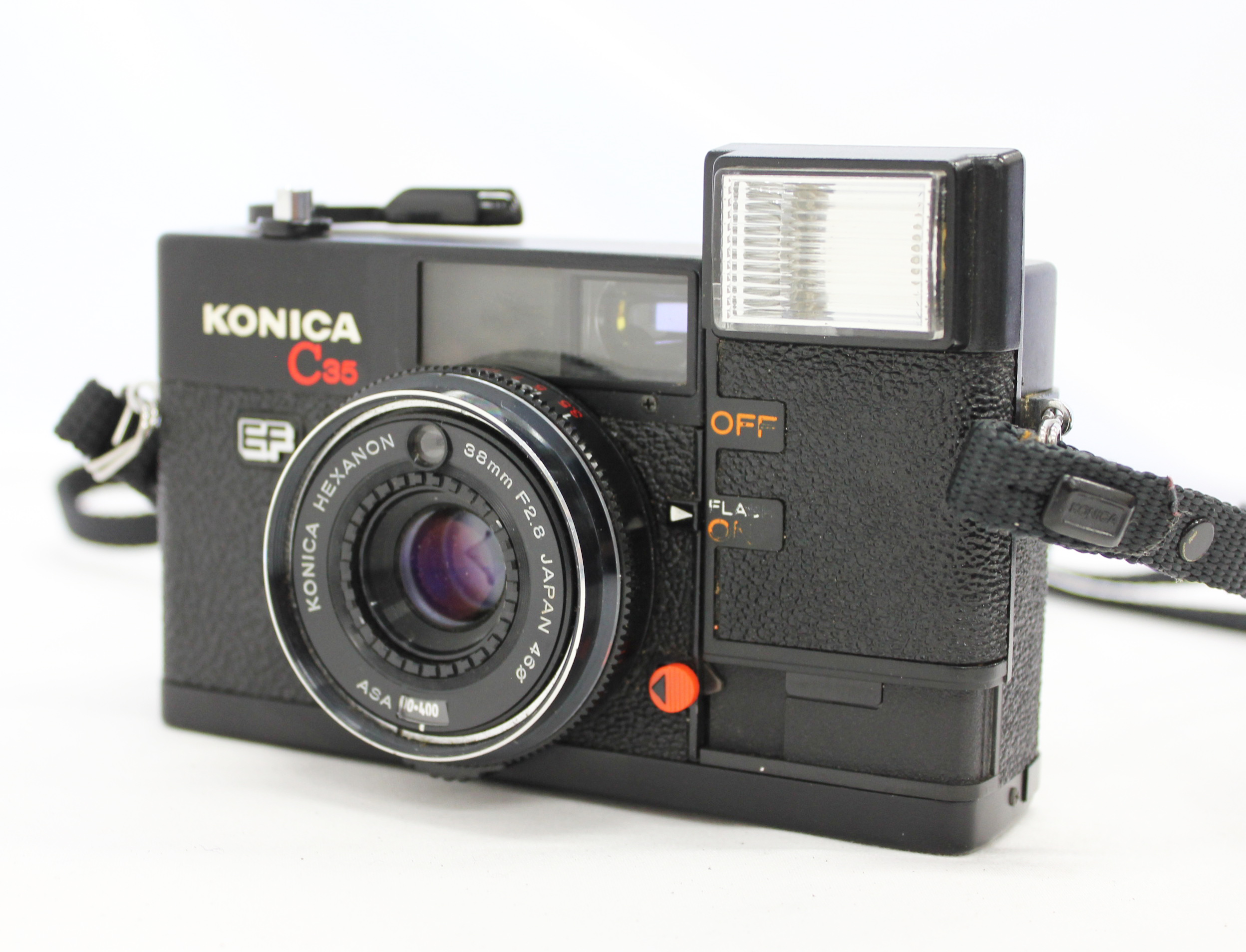 Japan Used Camera Shop | [Excellent+++++] Konica C35 EF Black Point & Shoot 35mm Film Camera from Japan