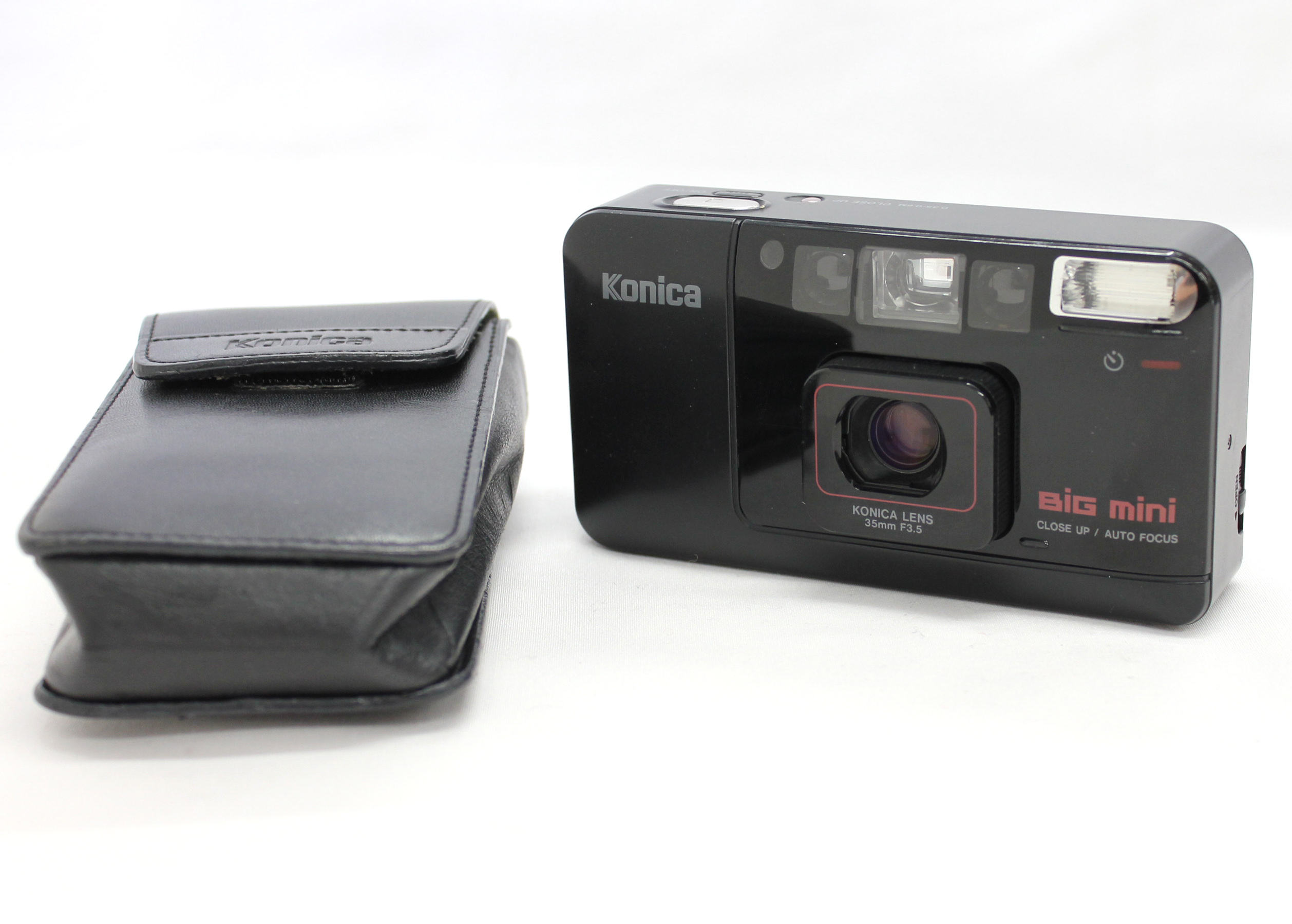 Japan Used Camera Shop | [Excellent++++] Konica Big Mini 35mm Point & Shoot Film Camera w/Case from Japan