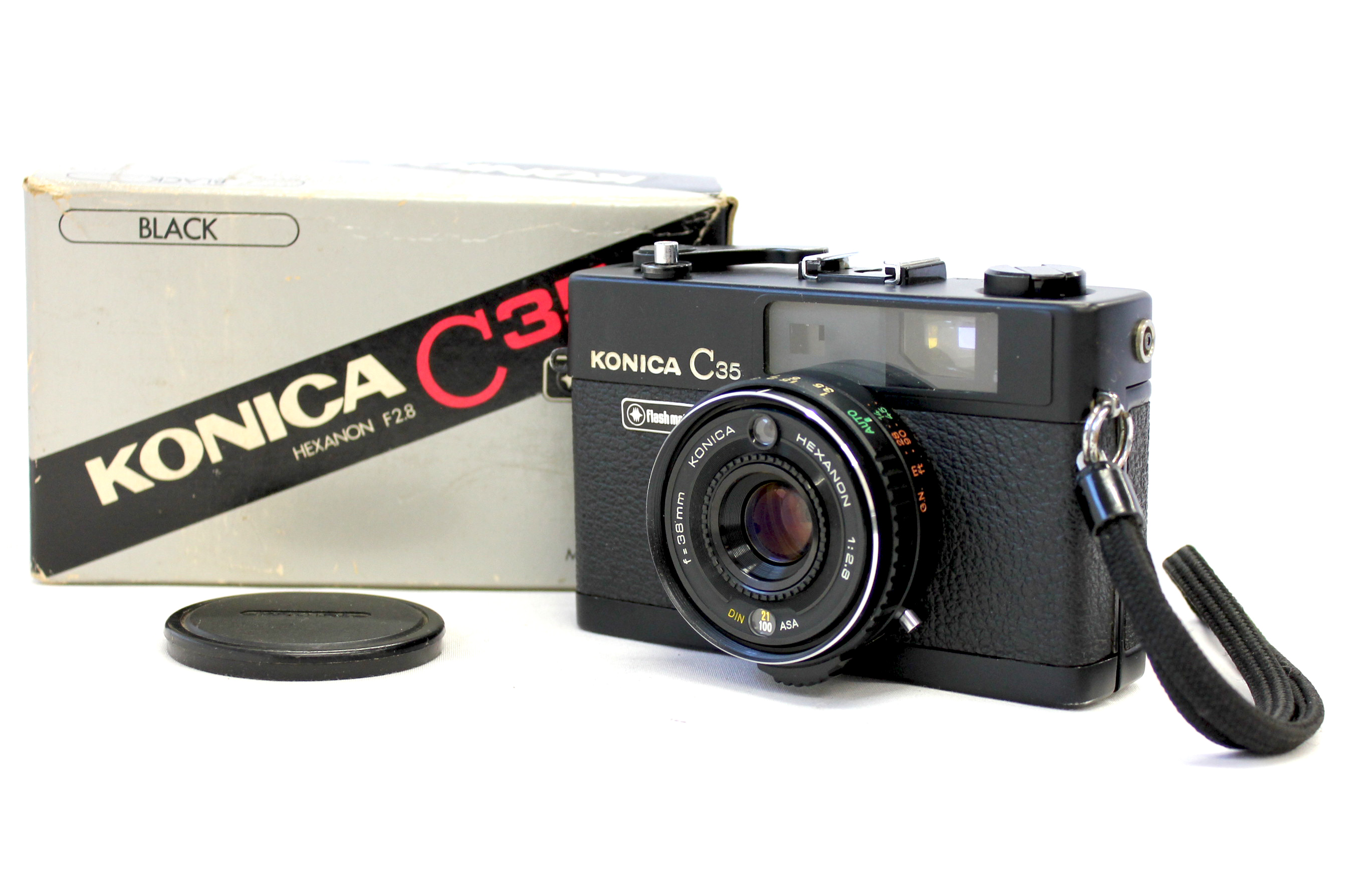 Japan Used Camera Shop | [Excellent++++ in Box] Konica C35 Flash Matic Black 35mm Rangefinder Film Camera from Japan