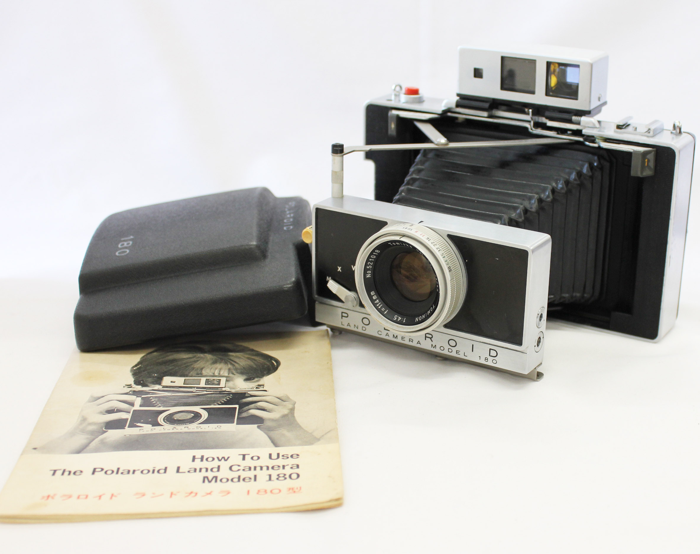 Japan Used Camera Shop | [Excellent+++++] Polaroid Land Camera Model 180 Instant Film Camera w/ Tominon 114mm F/4.5 from Japan