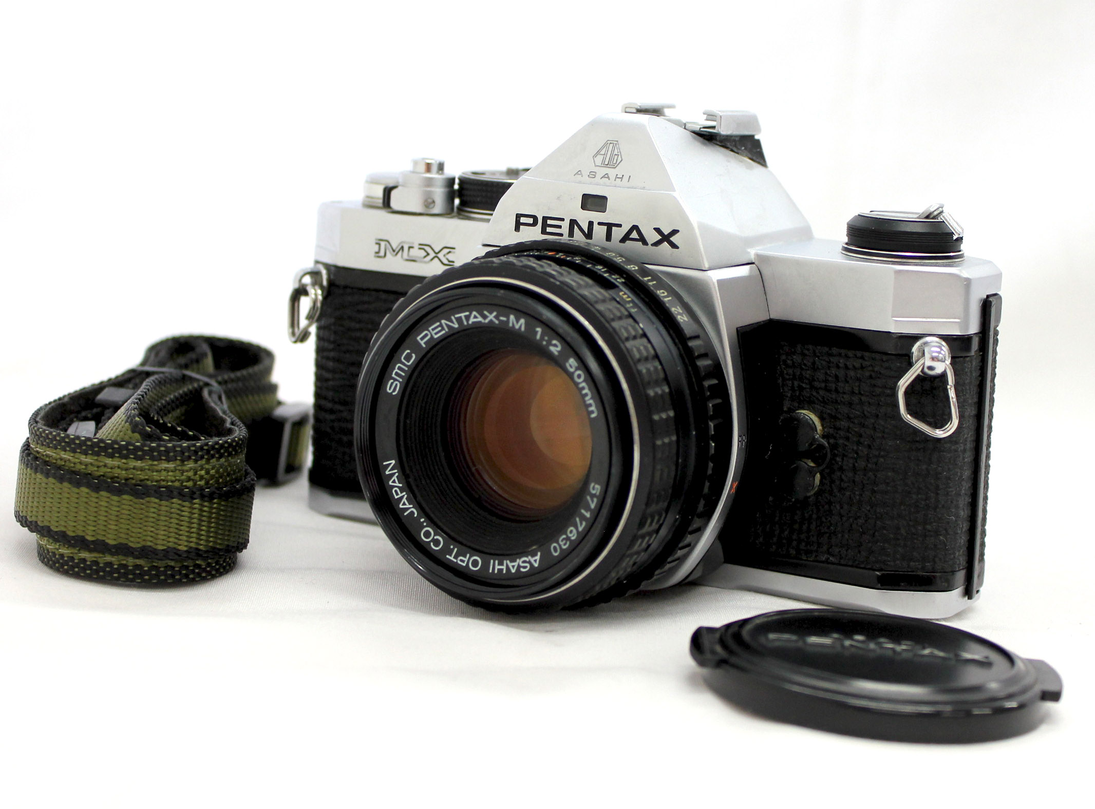 Japan Used Camera Shop | [Excellent++++] Pentax MX SLR 35mm Film Camera with SMC Pentax-M 50mm F/2 Lens from Japan
