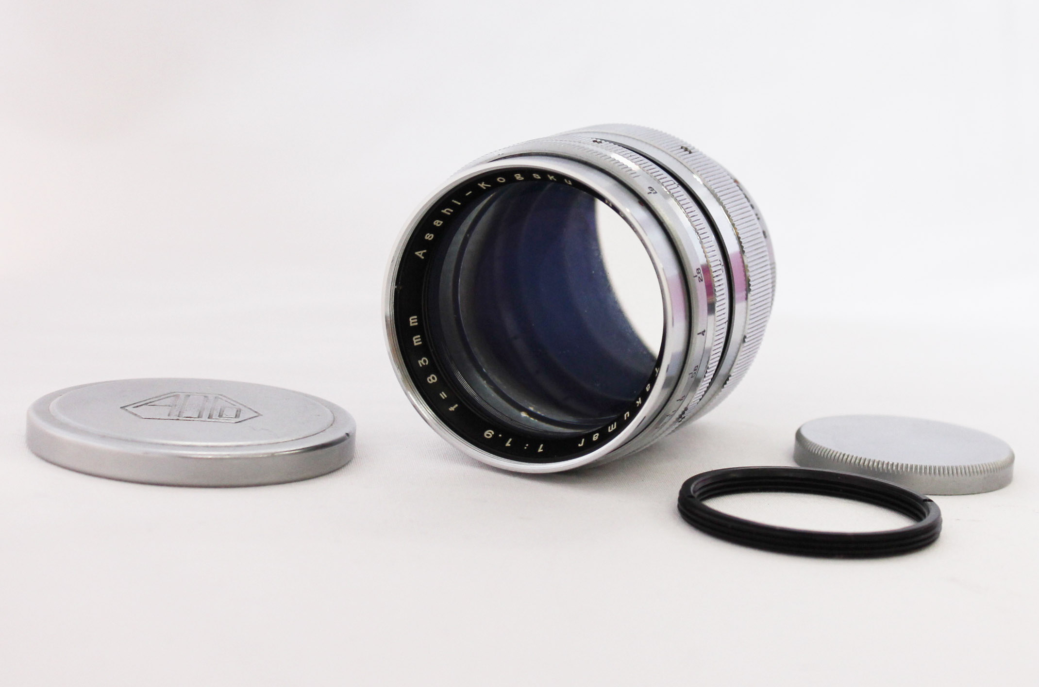 Japan Used Camera Shop | [Very RARE!] Asahi Pentax Takumar 83mm F/1.9 Lens for M37 Mount w/ M42 Adapter from Japan