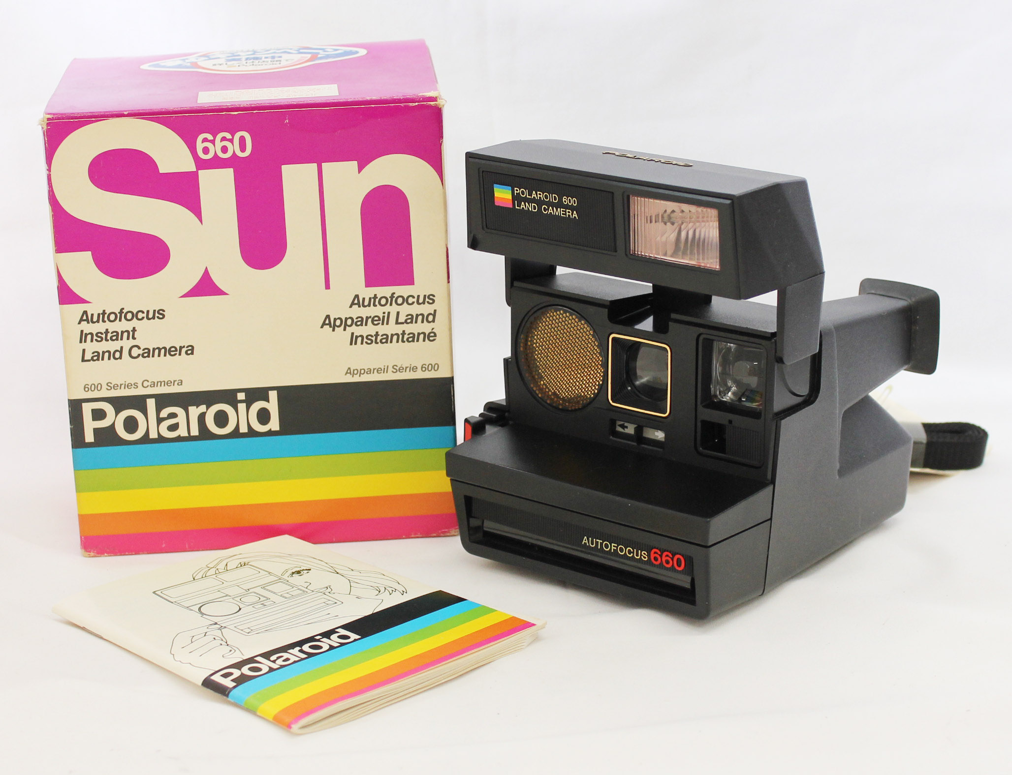 Japan Used Camera Shop | [Near Mint] Polaroid Sun 660 AF Autofocus Instant Land Camera in Box from Japan