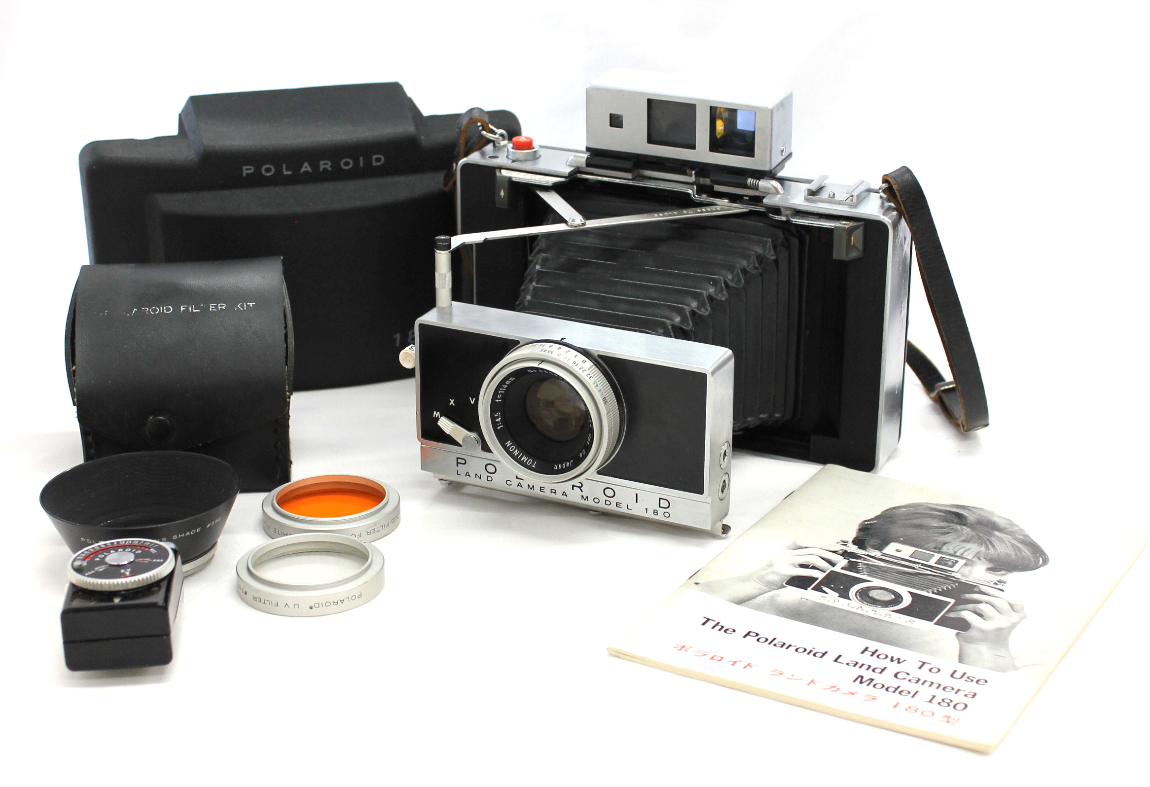 Japan Used Camera Shop | [Excellent++++] Polaroid Land Camera Model 180 Instant Film Camera w/ Tominon 114mm F/4.5 from Japan