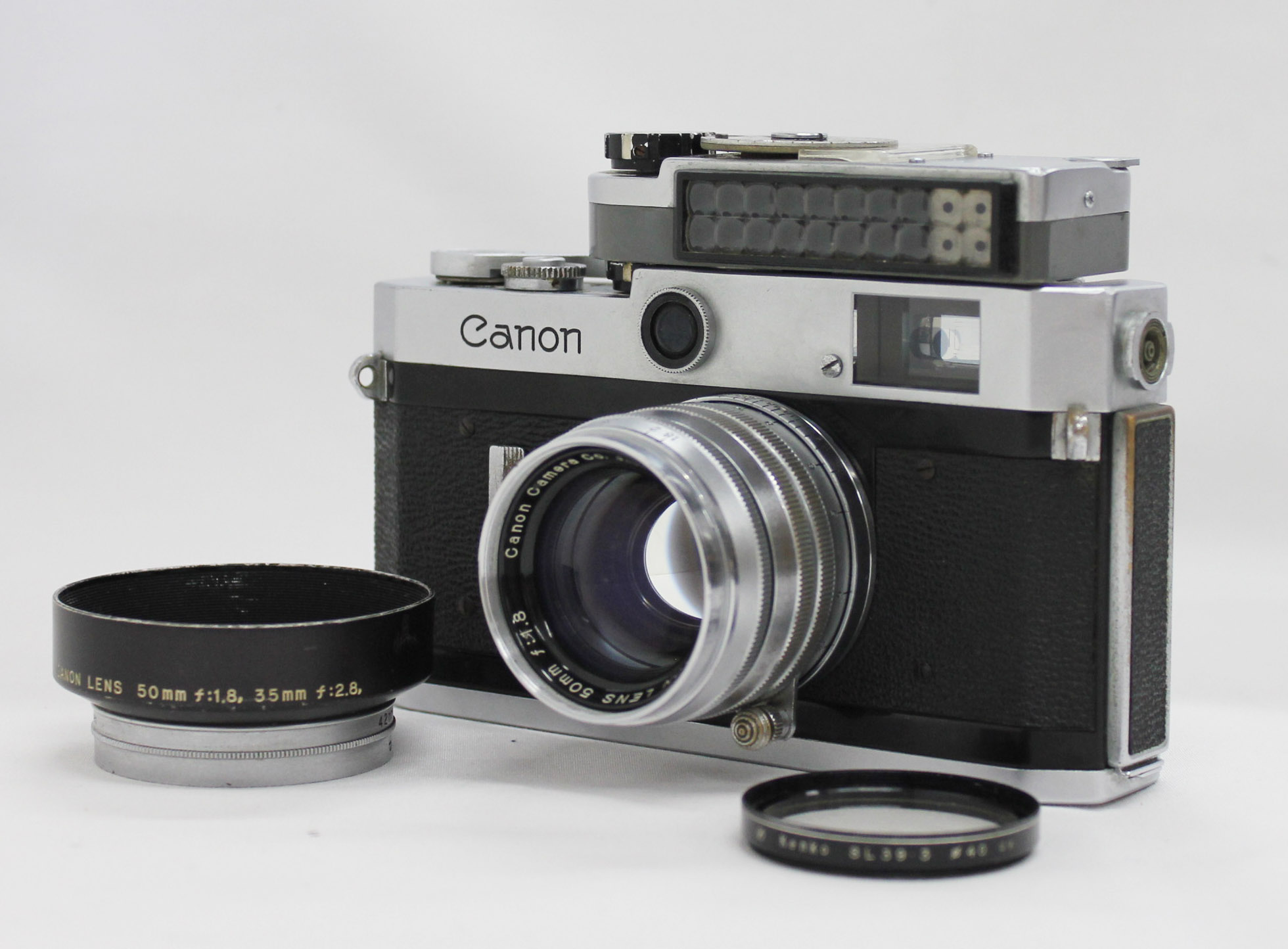 Japan Used Camera Shop | Canon P Rangefinder 35mm Film Camera with 50mm F/1.8 & Meter from Japan