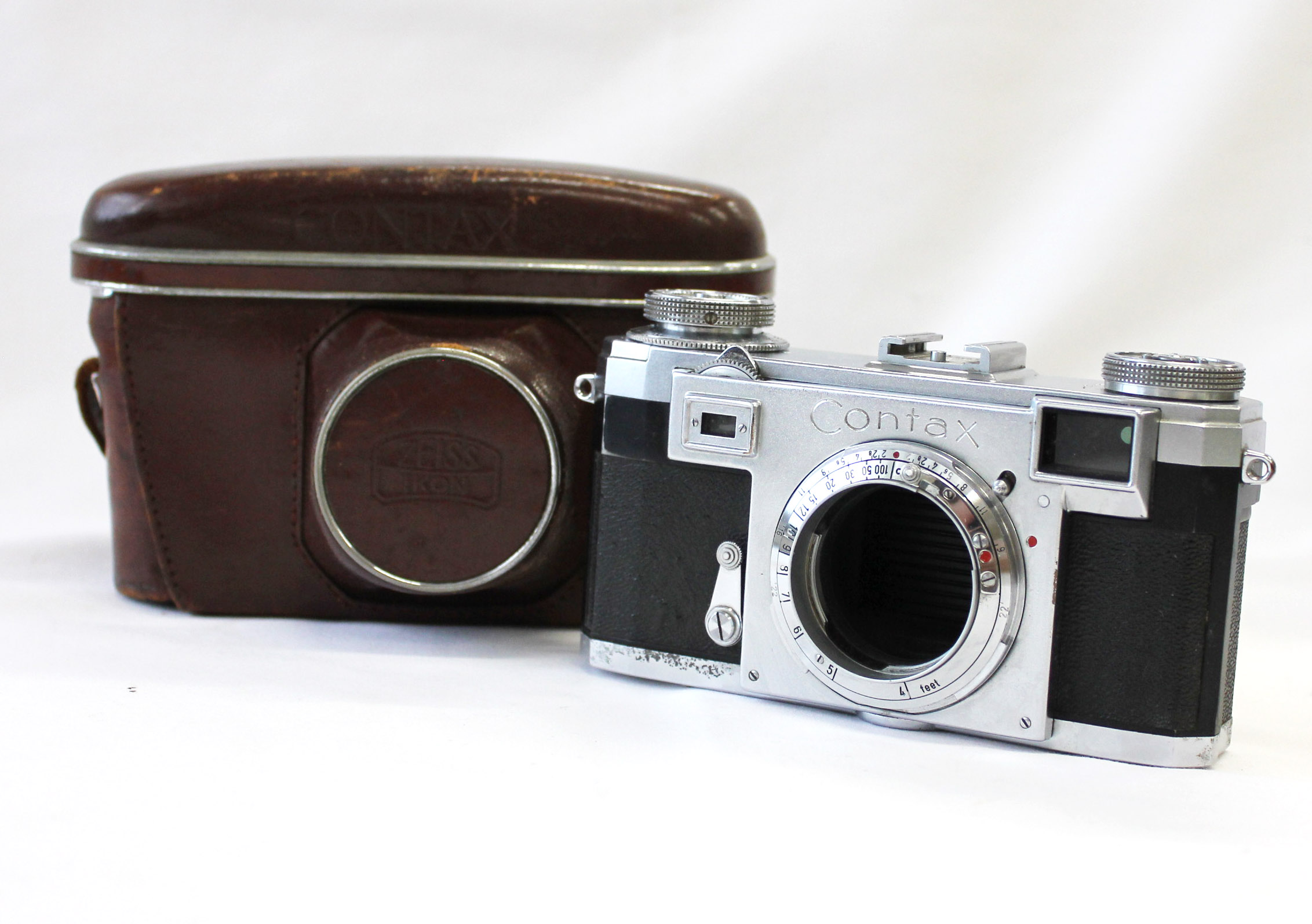 Japan Used Camera Shop | Zeiss Ikon Contax IIa 2a Color Dial Rangefinder 35mm Film Camera with Case from Japan