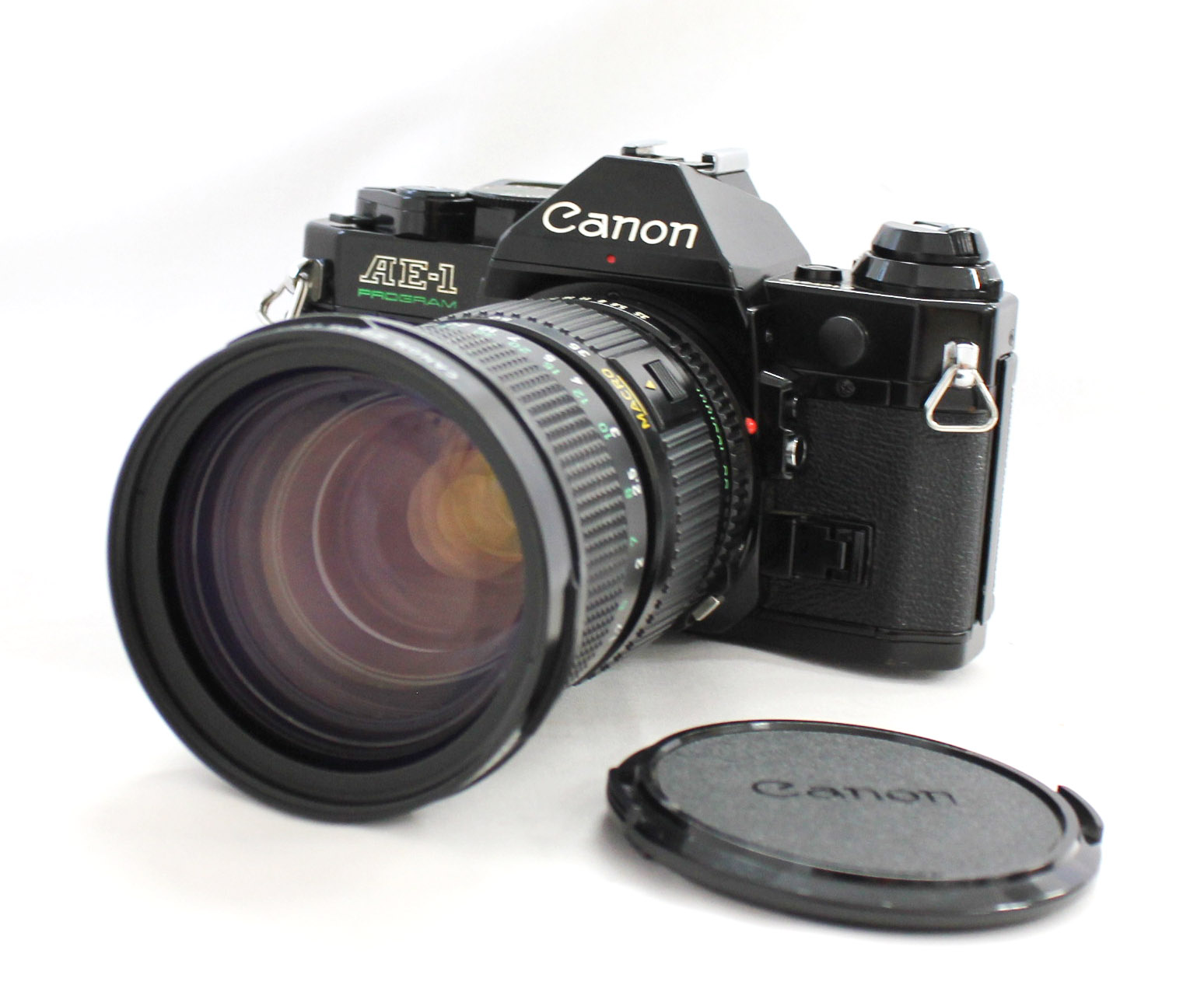 [Exc++++] Canon AE-1 Program 35mm SLR Film Camera with New FD 35-105mm F/3.5 Zoom Lens from Japan