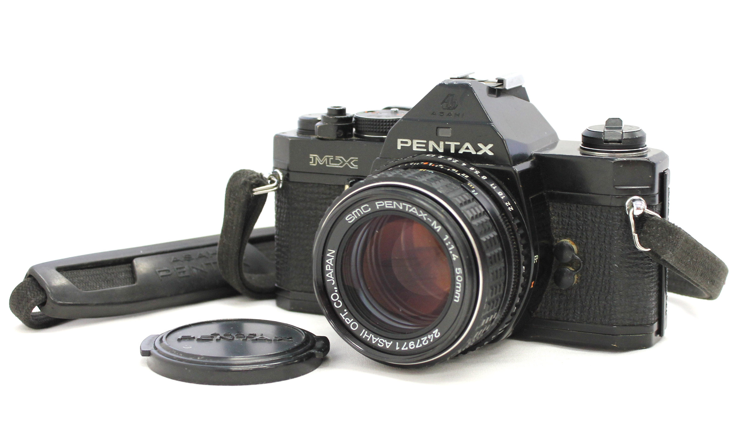 Japan Used Camera Shop | Pentax MX SLR 35mm Film Camera with SMC Pentax-M 50mm F/1.4 Lens from Japan