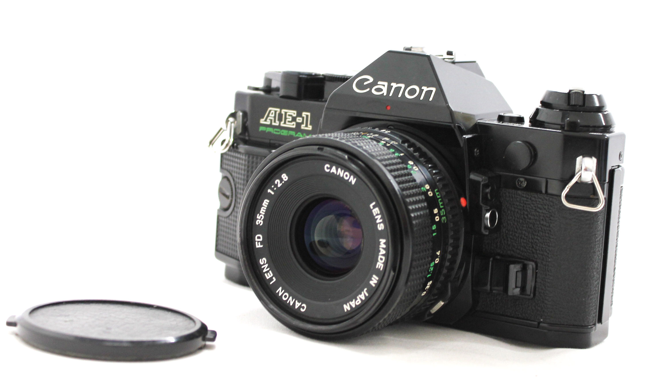 Canon AE-1 Program 35mm SLR Film Camera Black with New FD 35mm F/2.8 Lens from Japan Photo 0