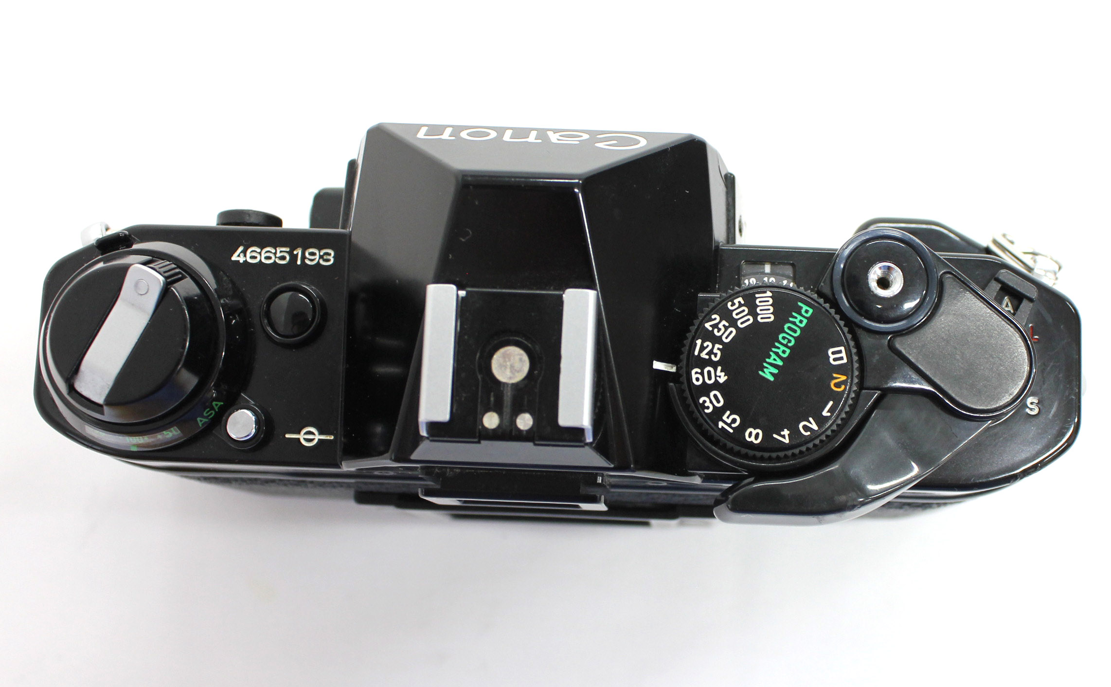 Canon AE-1 Program 35mm SLR Film Camera Black with New FD 35mm F/2.8 Lens from Japan Photo 7