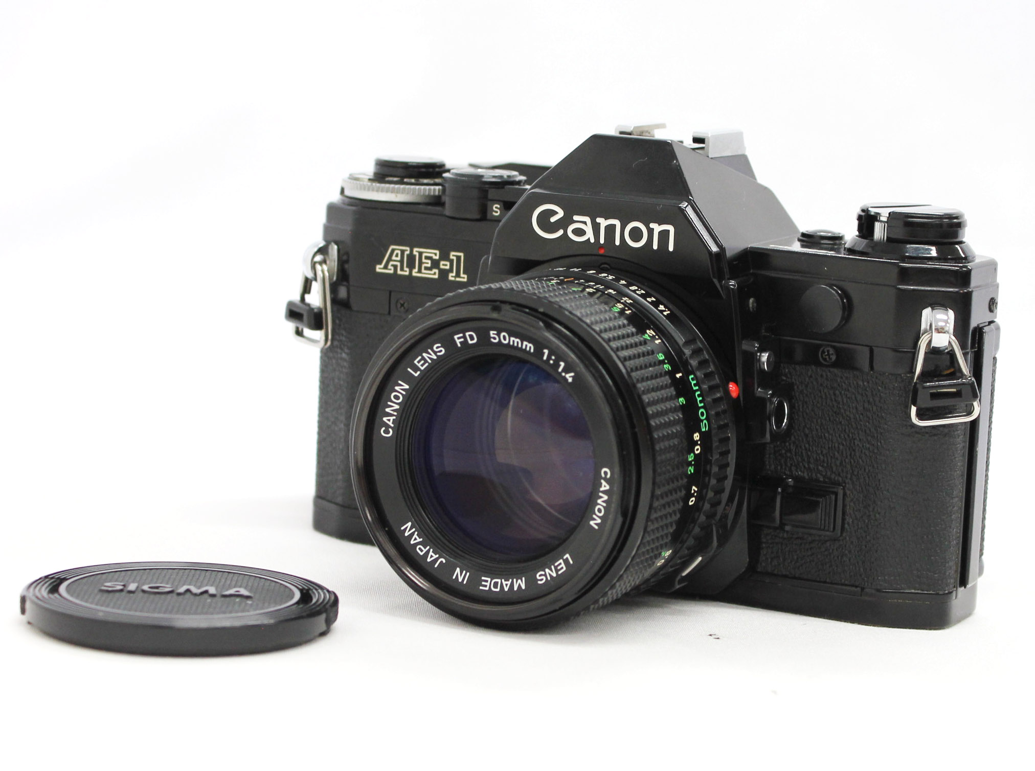 [Exc++++] Canon AE-1 35mm SLR Film Camera Black with New FD NFD 50mm F/1.4 Lens from Japan