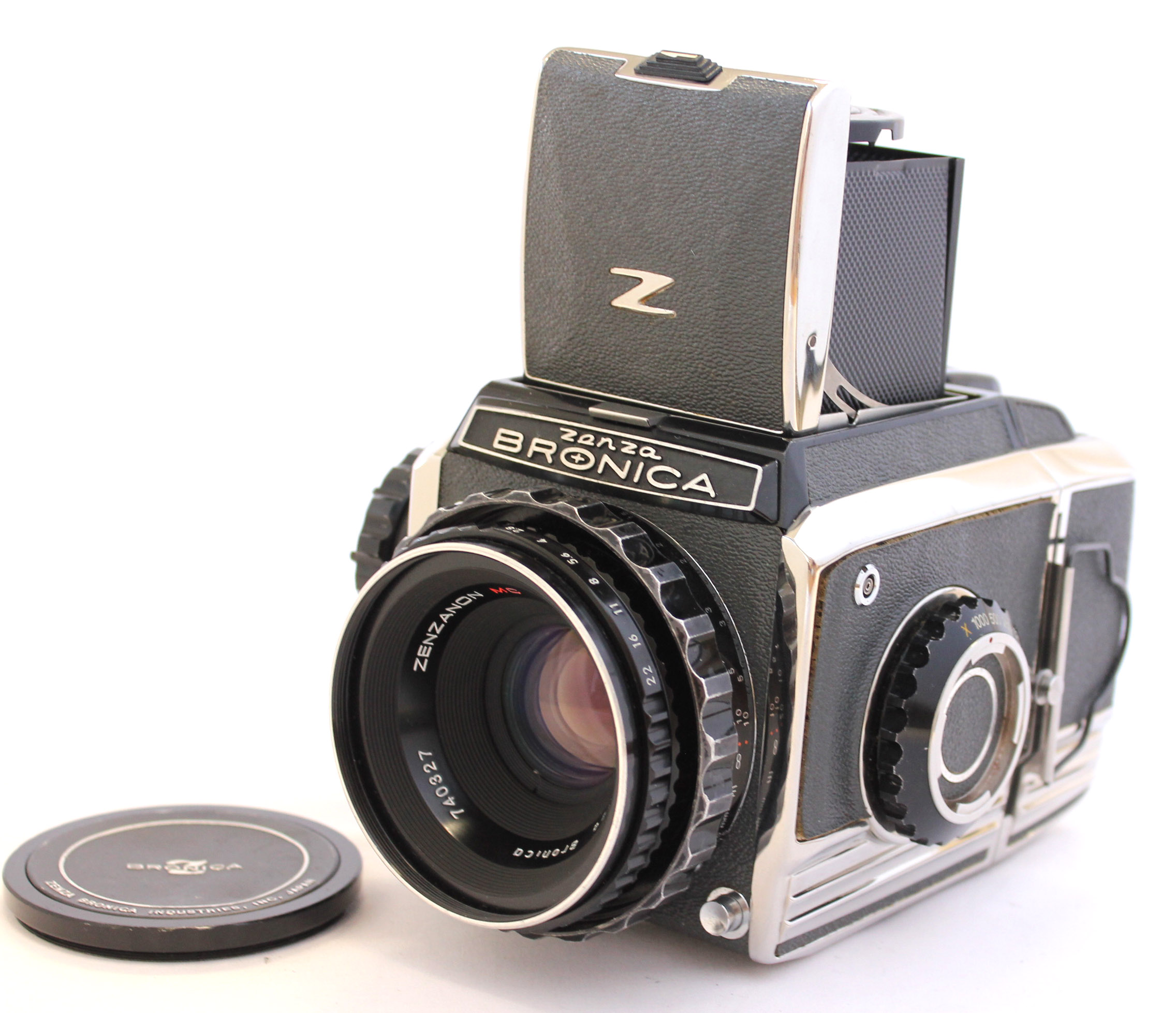 Zenza Bronica S2A Final Model (S/N CB156*) w/ Zenzanon MC 75mm F/2.8 and 6x6 Film Back from Japan