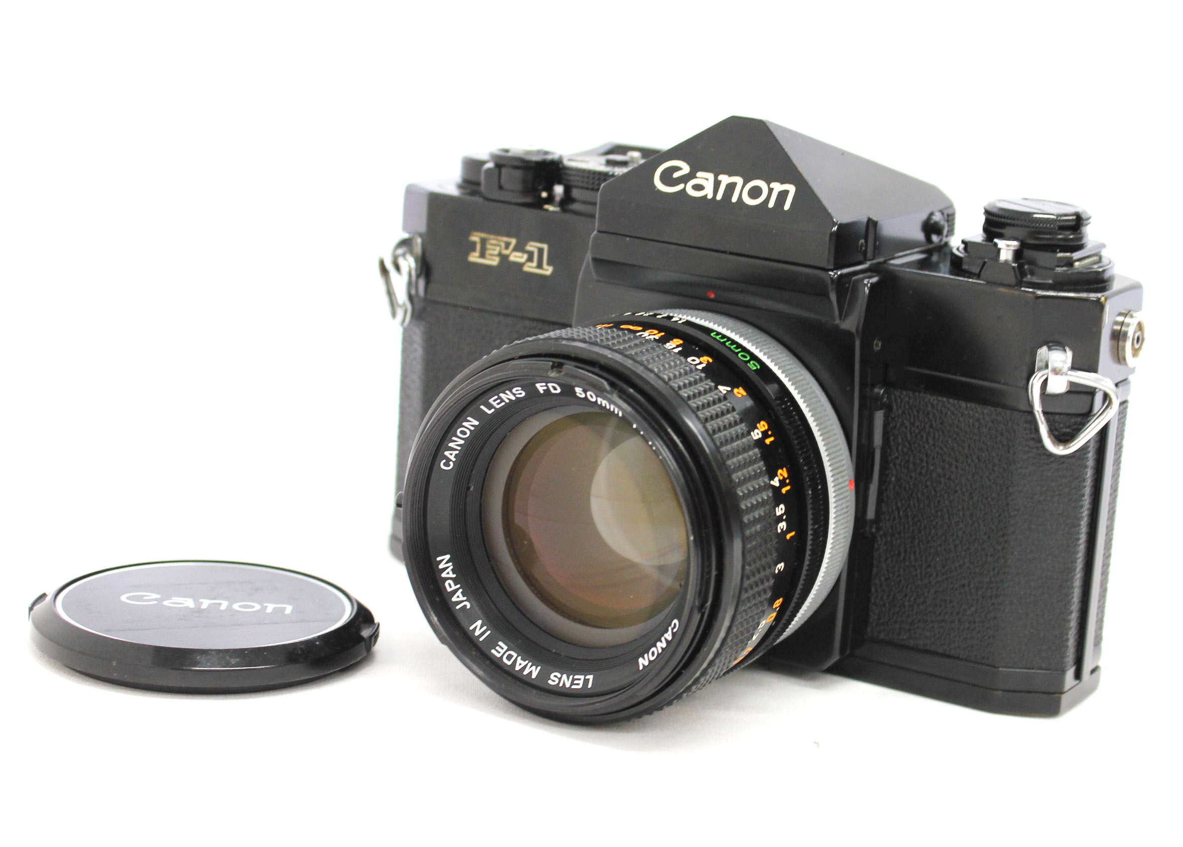 [Exc++++] Canon F-1 Late Model 35mm SLR Film Camera with FD 50mm F/1.4 S.S.C. Lens from Japan