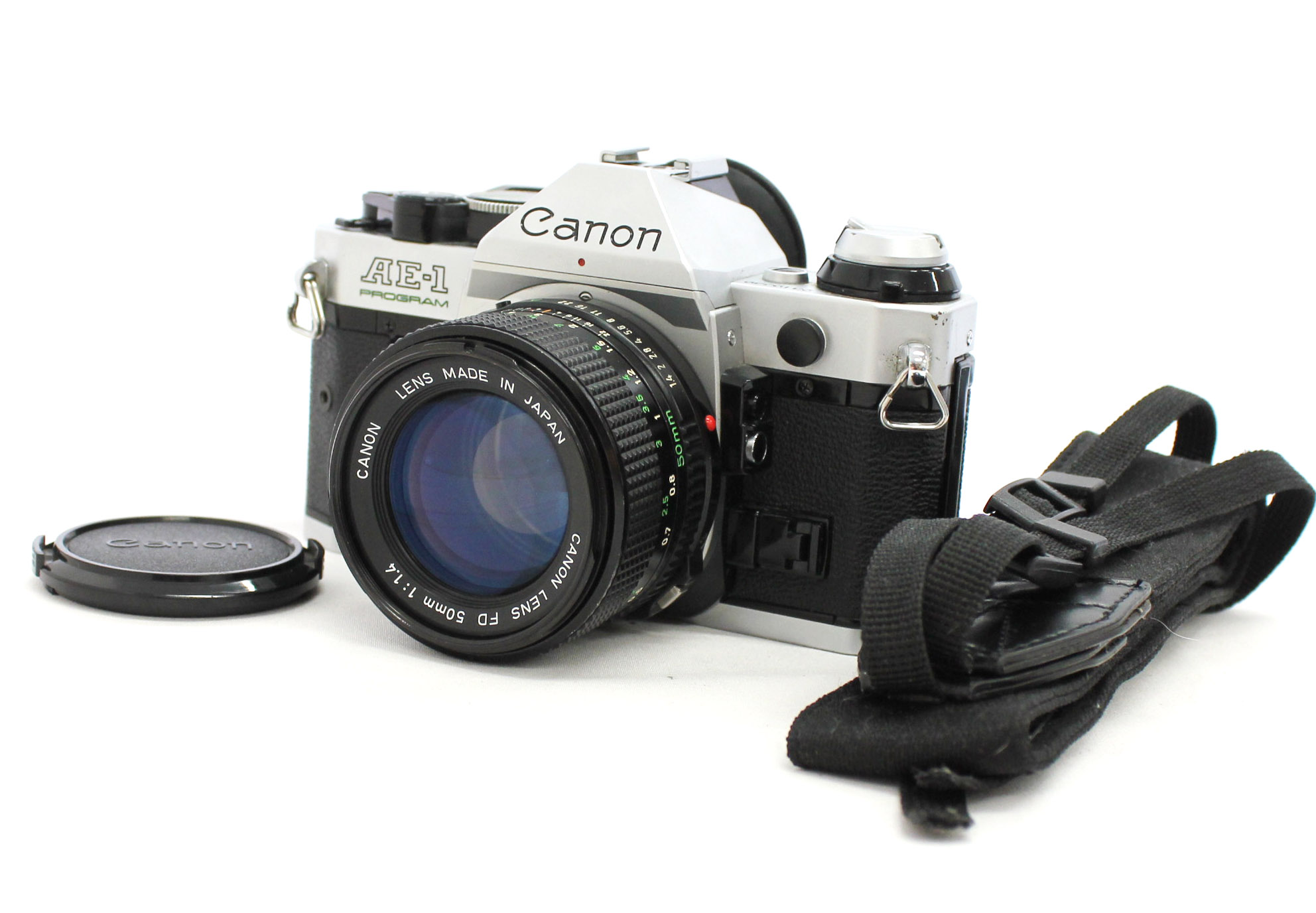 [Excellent+++++] Canon AE-1 Program 35mm SLR Film Camera with New FD NFD 50mm F/1.4 Lens from Japan