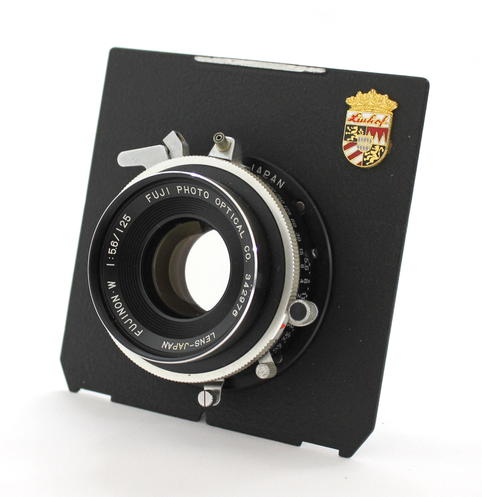 Japan Used Camera Shop | Fuji Fujinon W 125mm F/5.6 4x5 Large Format Lens with Seiko Shutter Linhof Board from Japan
