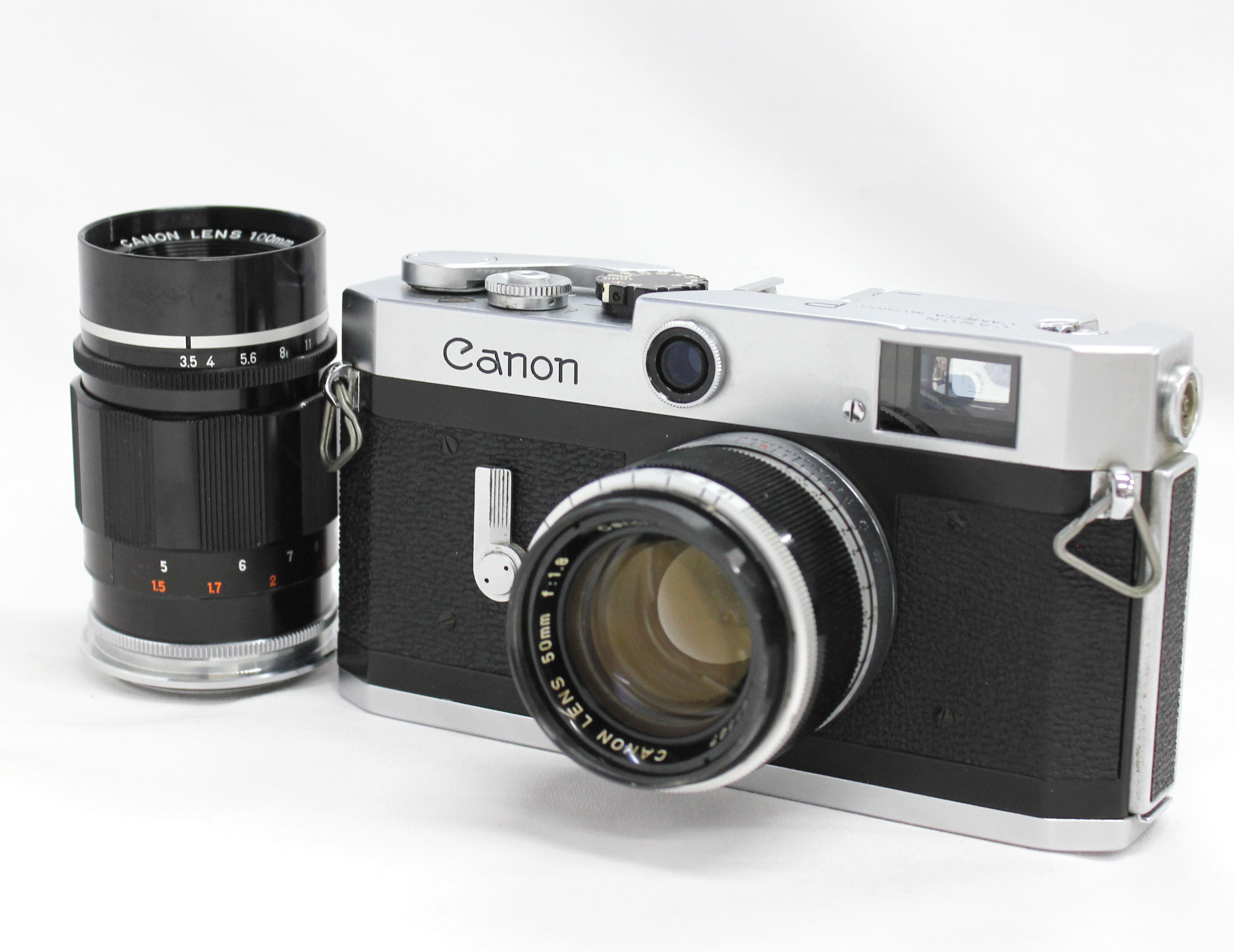 Japan Used Camera Shop | Canon P Rangefinder 35mm Film Camera with Bonus Lens 50mm & 100mm from Japan