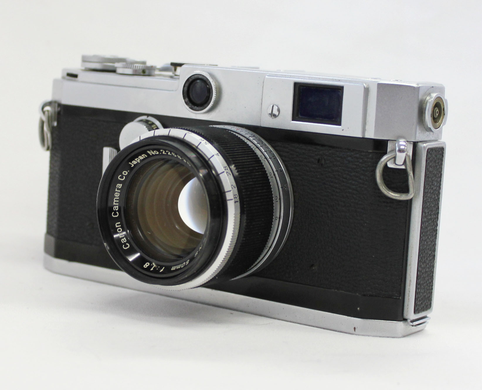 Japan Used Camera Shop | Canon L1 Rangefinder Camera Leica L39 LTM Screw Mount w/ Bonus Lens 50mm F/1.8 from Japan