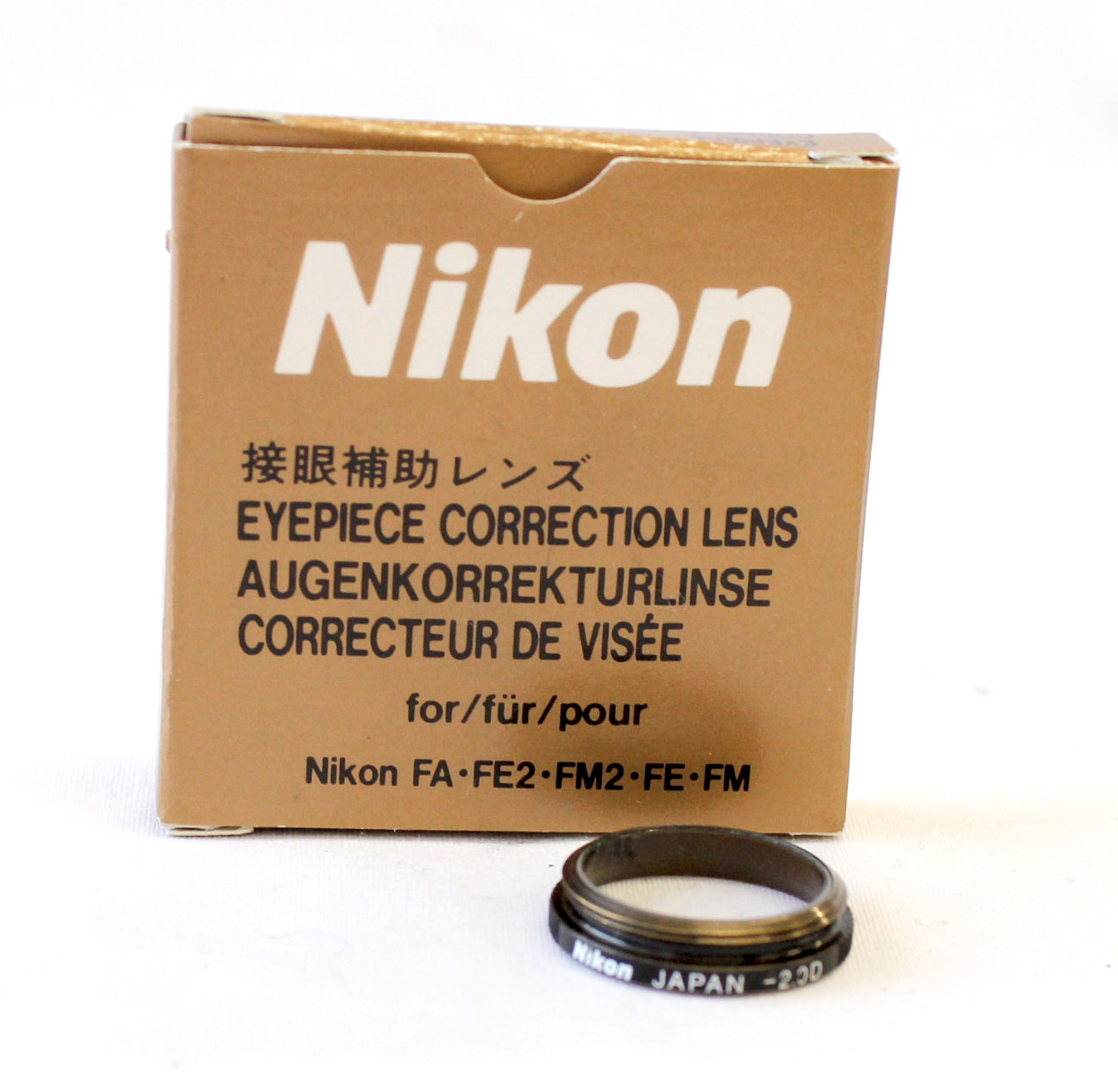 Japan Used Camera Shop | Nikon Eyepiece Correction Lens -2.0 Diopter for Nikon FA, FE2, FM2, FE, FM from Japan